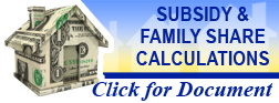 Subsidy & Family Share Calculations